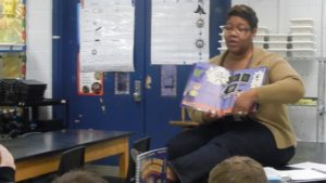Ms. Renee reading the GGC story to her students at Tully Elementary.