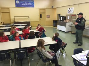 The Game Warden brings a new perspective to students at Rock Creek.