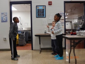 Students at Blue Lick work on their Arts skit