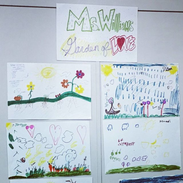 Kindergartners at alicenterlou shared kind words and pictures with theirhellip