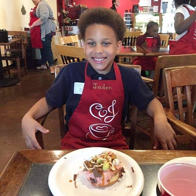 Superhero Jaden learned about baking and decorating sweet treats thishellip