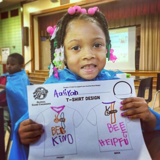 Superhero Aaliyah designed tshirts centered on BEEing kind and helpful!hellip
