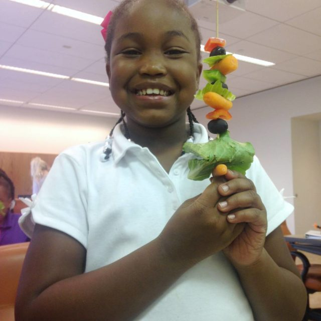Salad on a stick for Health Week! GGC Superheroes learnhellip